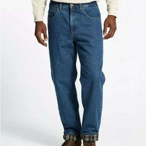 LL Bean Double L Jeans Comfort Waist Flannel 34x30